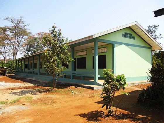 ラオス教育支援プロジェクト ドンニャイ校 新設の高等学校校舎